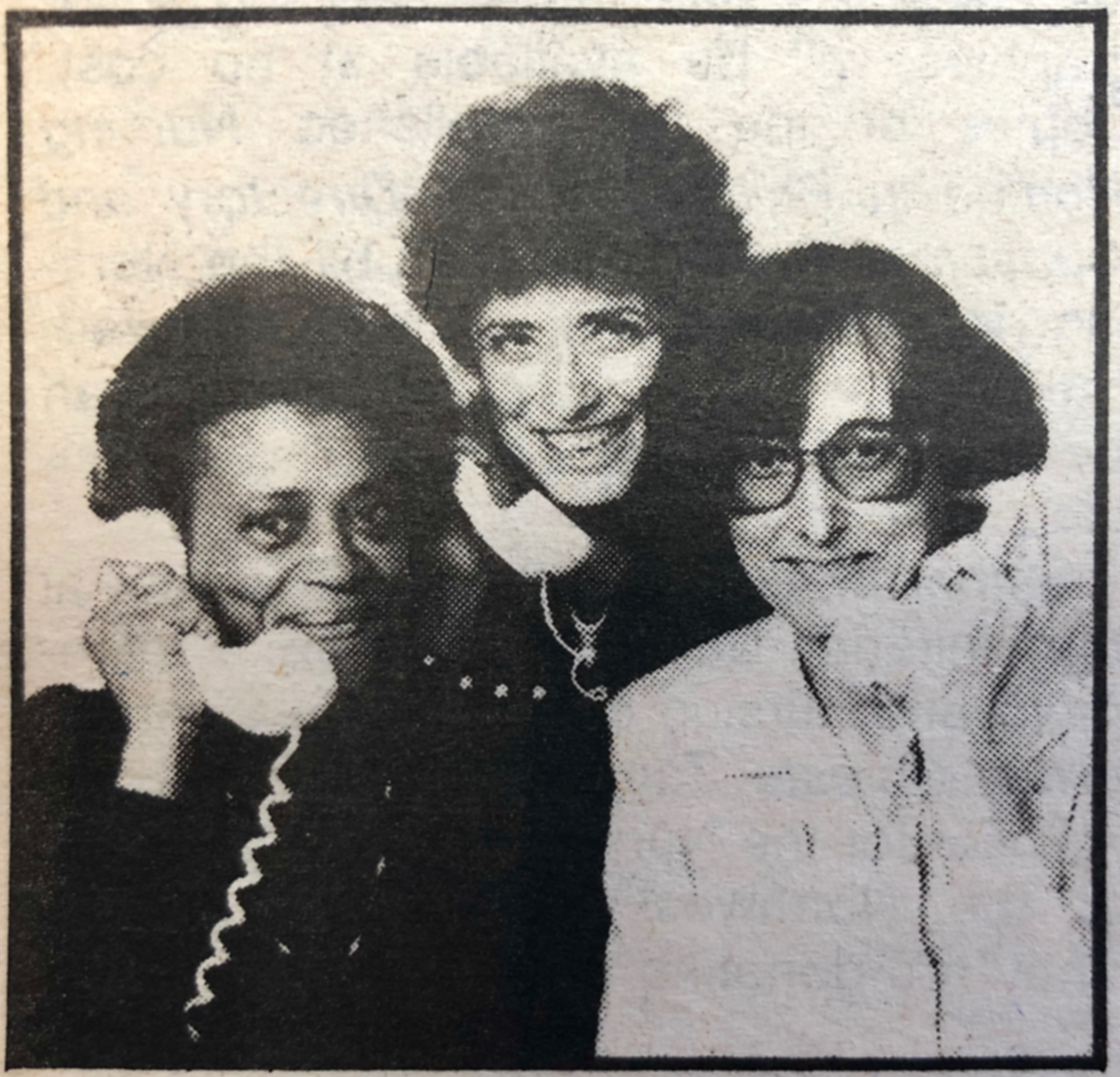 (L to R) Fern Bell, Barbara Bloom, and Jean Swenson.
